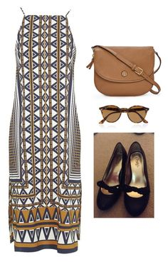 """""""Outfit Idea by Polyvore Remix"""" by polyvore-remix ❤ liked on Polyvore featuring Ray-Ban, Tory Burch and Topshop"""