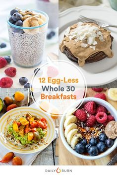 With no dairy, grains or sugar allowed, finding Whole 30 compliant breakfast recipes can be tough. Luckily, these creative Whole 30 breakfasts vary up the menu so you're not eating eggs every morning. #whole30 via @dailyburn