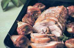 Lombo de porco recheado com pera e gorgonzola (Foto: Stockfood/ Greatstock)