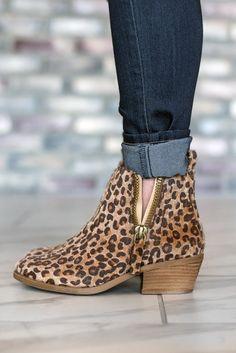 f4c961788734 Twinkle Leopard Ankle Boot ~ Calfskin