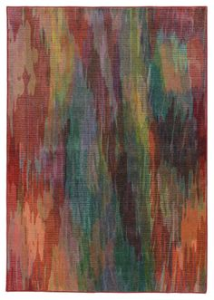RugStudio presents PANTONE UNIVERSE Prismatic 52768 Red/ Orange Machine Woven, Good Quality Area Rug