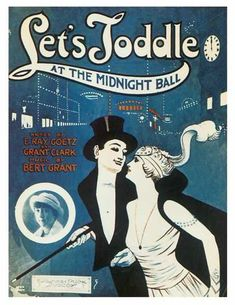 Let's Toddle at the Midnight Ball Vintage Sheet Music