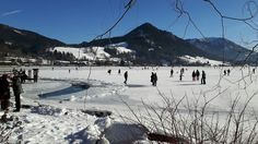 Januar 2017: Der #Schliersee ist komplett zugefroren...