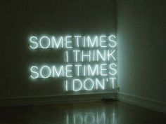Sometimes I think, Sometimes I don't - Neon Light - Tracey Emin The Words, Neon Words, Tracey Emin, Wall Writing, Images Esthétiques, Work Images, Visual Statements, Purple Aesthetic, Witch Aesthetic