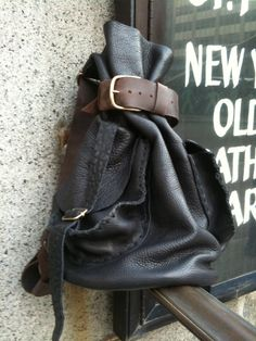 Soft+Leather+rucksack+black+back+pack+by+by+LUSCIOUSLEATHERNYC