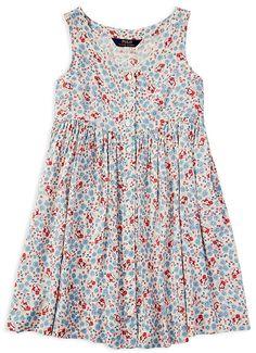 Ralph Lauren Childrenswear Girls' Floral Print Button Down Dress