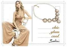 Collana Saint-Germain by Sodini: #etnochic per un'estate luminosa. Tondi in metallo e splendide pietre bianche. http://www.civettajewels.it/collana-sodini-con-pietre-bianche-collana-etnica-pietre-bianche.html Saint-Germain #necklace: shiny #summer2015! #jewels #white