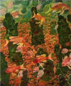 Theo Van Rysselberghe (1862-1926) Aquarium 1909 (73 x 60 cm)