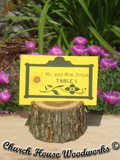 Rustic Wedding Place Card Holders