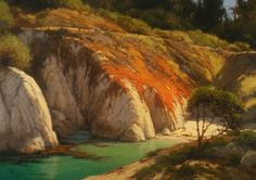 Morning Hike to China Cove, Brian Blood, Oil