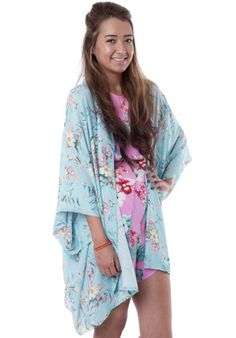 (FLOWER POWER) LOVE MINT ORIENTAL PRINT KIMONO #HAKKAFASHION SHOP THIS KIMONO HERE- http://www.hakkafashion.com/tops/158-mint-oriental-print-kimono.html?search_query=FLORAL&results=48
