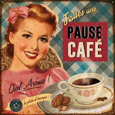 Pause café Art Print by Bruno Pozzo Art com is part of Decoupage vintage - Pause café Art Print by Bruno Pozzo Find art you love and shop highquality art prints, photographs, framed artworks and posters at Art com satisfaction guaranteed Decoupage Vintage, Decoupage Paper, Pub Vintage, Vintage Labels, Vintage Signs, Printable Vintage, Vintage Food, Images Vintage, Vintage Pictures