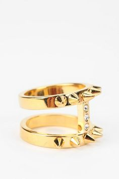 MariaFrancescaPepe Double Spike Ring  #UrbanOutfitters
