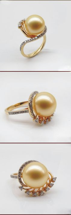 south sea pearl ring with diamonds 1011-DZK100 THIS IS THE ENGAGEMENT RING I WANT just in a white pearl...