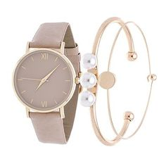 Xtreme Fortune NYC Arm Candy Ladie's Fashion Gold Case / Beige Strap Watch with a Set of 2 Bracelets http://www.thesterlingsilver.com/product/mk5538-michael-kors-rose-gold-tortoiseshell-watch/