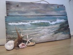 Original Ocean Beach Seascape Painting on by Loriluvscolors