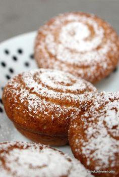 feine Honig-Muffins - Schokohimmel Mini Muffins, Doughnut, Baked Goods, Tasty, Bread, Cookies, Baking, Sweet, Desserts