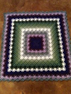 Crochet  Bavarian stitch blanket
