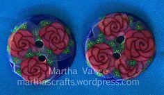 rose buttons - Martha Vance