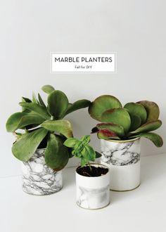 10 JANUARY DIYS – Marble Planters