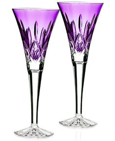 Waterford Stemware Colour Me Lismore Toasting Flutes, Set of 2 - Waterford - Dining & Entertaining - Macy's
