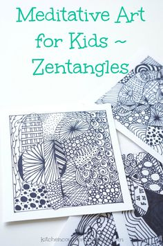 Zentangles for Kids - An easily accessible and creative activity for tweens and teens. A meditative activity that is a perfect study break idea. Find out how easy it is to zentangle and why it a great coping strategy for stressed kids.