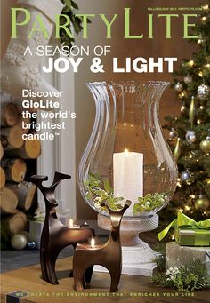 Shop The Fall Holiday 2012 Christmas Catalog Here #PartyLite #Candles