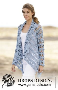 Spring Bliss Jacket By DROPS Design - Free Crochet Pattern - (ravelry)