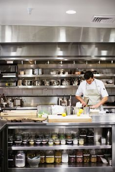 All cooks' dream realized in the new kitchen at Meadowood: space to work and space to store. - Erin Kunkel
