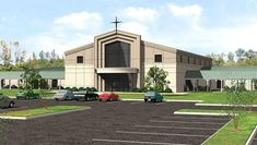 Barnes Design Group_Bethel Baptist Church Church Interior Design, Church Stage Design, Exterior Design, Church Building, Building Exterior, Building Design, Church Architecture, Modern Architecture, Church Logo