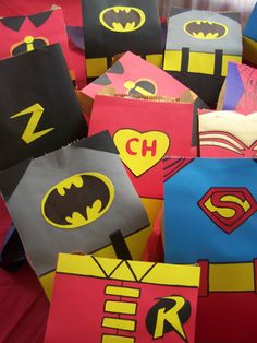 superheroes Superhero Party Bags, Boy Birthday Parties, Birthday Ideas, Super Hero Costumes, Party Favor Bags, Party Time, Tardis Blue, Just For You, Wrapping
