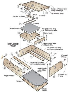 table woodworking plans jewelry boxes