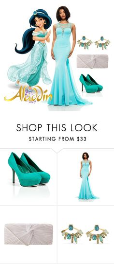 """Disney Princess Inspired Prom/Matric Dance Dress: Jasmine"" by salomemonametsi ❤ liked on Polyvore featuring Sergio Rossi, Johnathan Kayne, J. Furmani, Elizabeth Cole, disney, jasmine and matric"
