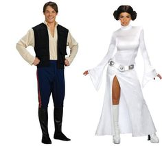 Princess Leia Fight the Dark Side and look good doing it in this sexy Princess Leia costume. Includes dress, belt and wig. - Polyester - Hand Wash - Polyester dress with belt - Includes wig - Han Duo Costumes, Couple Halloween Costumes, Halloween Ideas, Costume Ideas, Halloween 2016, Group Costumes, Funny Halloween, Halloween Outfits, Han Solo Costume