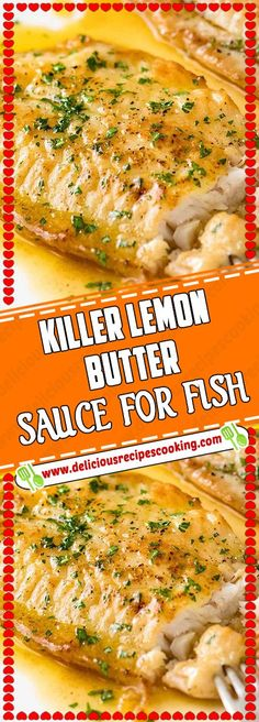 """KILLER LEMON BUTTER SAUCE FOR FISH Catfish were readily abundant in the Antebellum South and, due to their status as """"bottom feeders,"""" weren't deemed the most stylish dinner staples. Kids Cooking Recipes, Dinner Recipes For Kids, Fish Ideas For Dinner, Cooking Fish, Fish Dinner, Seafood Dinner, Salmon Recipes, Seafood Recipes, Fish Sauce Recipes"""