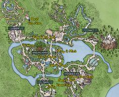 Walt Disney World, Animal Kingdom, Character Locations, Map