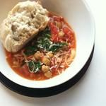 Spring Spinach and Tomato Soup