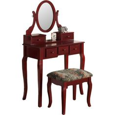 ORE Furniture Victoria Vanity Set with Mirror & Reviews | Wayfair