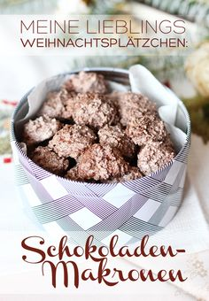 The best chocolate macaroons in the world - Rezepte: Kekse, Plätzchen, Cookies & Pralinen - Cupcake Recipes, Cookie Recipes, My Favorite Food, Favorite Recipes, Chocolate Macaroons, Best Chocolate, Christmas Chocolate, Burger Recipes, Cookies Et Biscuits