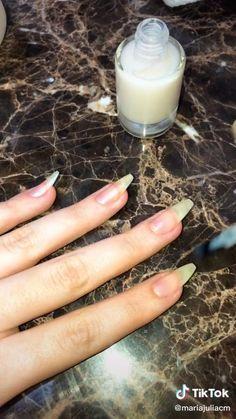 Long Natural Nails, Black Coffin Nails, Nail Growth, Manicure Y Pedicure, Grunge Hair, Makeup Videos, Short Nails, Pink Nails, Nails Inspiration