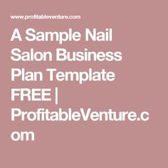 A sample cosmetology school business plan template a sample nail salon business plan template free profitableventure cheaphphosting Image collections