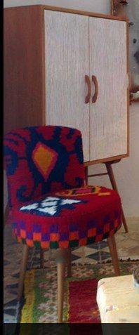 scan chaise ronde 50 en kilim vintage deco pinterest d co. Black Bedroom Furniture Sets. Home Design Ideas