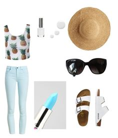 """""""Summer"""" by ashley-dorr on Polyvore featuring Barbour, TravelSmith, Flora Bella, Chanel and Lime Crime"""