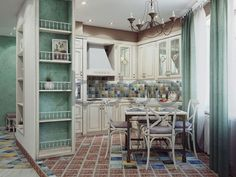 cucina shabby chic in stile provenzale romantico n12