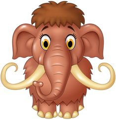 Cartoon cute mammoth isolated on white background Clip Art Pictures, Cute Pictures, Animals And Pets, Cute Animals, Cartoon Elephant, Tatty Teddy, Laura Lee, Cute Images, Funny Cartoons
