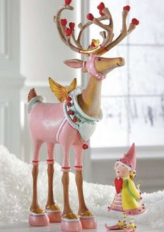 Add a dash of love and charm to your Christmas display with the Patience Brewster Cupid Dash Away Reindeer Character that boasts hand-painted designs that are sure to delight your guests.