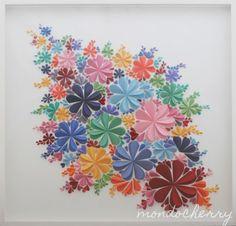 A small bite of mondocherry: 3d paper artwork