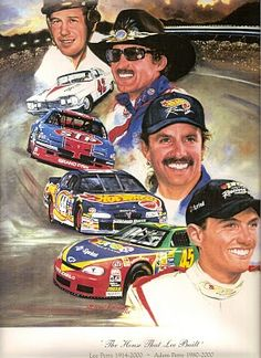The Petty's, a racing family Richard Petty, King Richard, Kyle Petty, Nascar Race Cars, Joey Logano, American Racing, Vintage Race Car, Dale Earnhardt, Sports Art