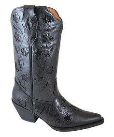 Love this Black Victoria Cowboy Boot by Smoky Mountain Boots on #zulily! #zulilyfinds