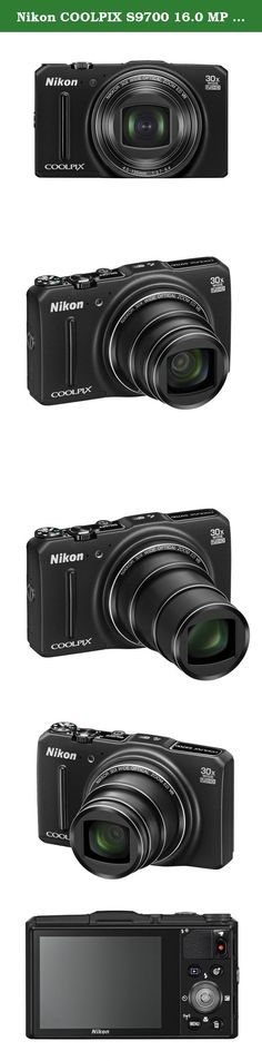 Nikon COOLPIX S9700 16.0 MP Wi-Fi Digital Camera with 30x Zoom NIKKOR Lens, GPS, and Full HD 1080p Video (Black). The Nikon COOLPIX S9700 Digital Camera is designed around a genuine NIKKOR glass lens, the legendary optics that have helped make Nikon famous. The COOLPIX S9700s 30x optical zoom lens goes from wide-angle-great for portraits and landscapes-all the way up to telephoto-great for closeups of sports, concerts, nature and more. When you need even more reach, zoom up to 30x with...